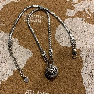 Brighton necklace with Celtic heart/lobster clasp